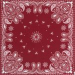 Small Paisley Scarf Red